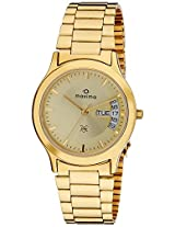 Maxima Analog Gold Dial Men's Watch - 06361CMGY