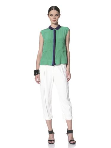 Yigal Azrouel Women's Sleeveless Top with Pockets (Island)