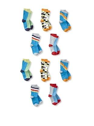 See Kai Run Boy's 10-Pack Striped Socks