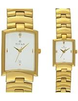 Titan Bandhan Analog White Dial Unisex Watch - NE19402940YM01