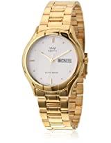 Q&Q Analog White Dial Men's Watch - R354-001Y