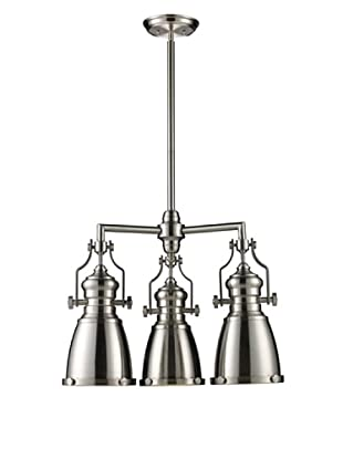 Artistic Lighting Chadwick 3-Light LED Chandelier, Satin Nickel