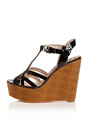 Modern Vintage Women's Lucy Platform Wedge (Black)