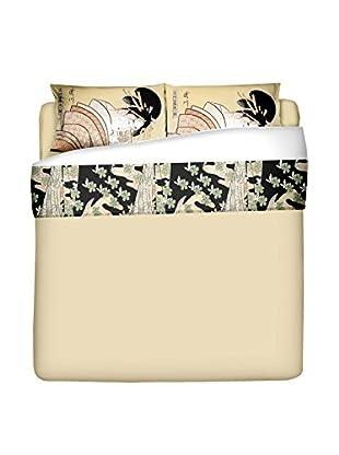 JAPAN MANIA by MANIFATTURE COTONIERE Betttuch und Kissenbezug Lettera D'Amore