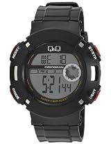 Q&Q Standard Dual Time Digital White Dial Men's Watch - M064J001Y