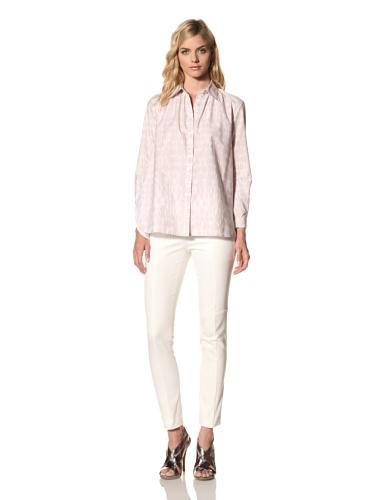 Thakoon Addition Women's Tie Dye Poplin Oversized Shirt (Sand)
