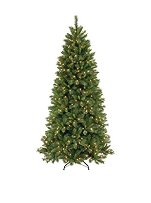 National Tree Company 7.5' Lehigh Valley Pine Slim Hinged Tree