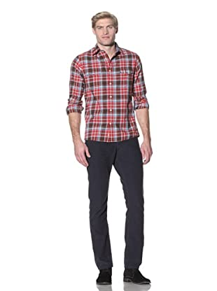 Benson Men's Plaid Shirt (Red Plaid)