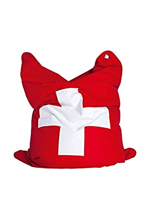 Sitting Bull Puff Grande Fashion Bull Suisse Rojo/Blanco