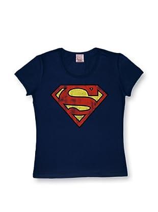 Logoshirt Mujer Camiseta Superman (Azul Marino)