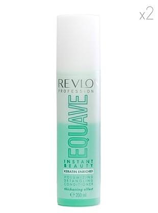Revlon  Set 2 Equave Ib Champús Acondicionadores Volumen Cabello Débil Fino 200 ml