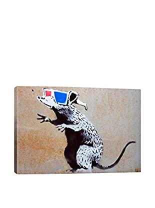 Banksy 3D Rat Gallery Wrapped Canvas Print