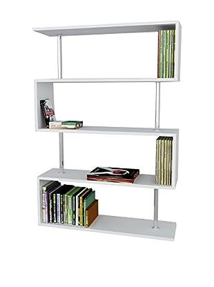 Dekorister Bücherregal Sunrise weiß 22x90x129cm