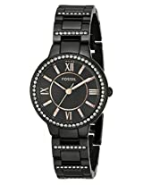 Fossil End of Season Virginia Analog Black Dial Women's Watch -ES3610
