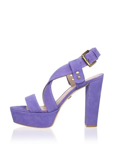Pour La Victoire Women's Nealla Platform Sandal (Lilac Pebble Nubuck)