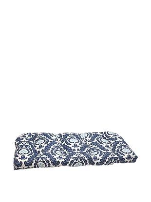 Waverly Sun-n-Shade Meridian Pool Wicker Loveseat Cushion (Navy/Aqua/Cream)