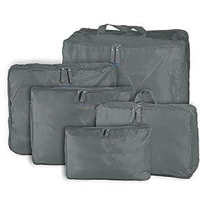 Packnbuy 5 in 1 Grey Travel Bag Organizer