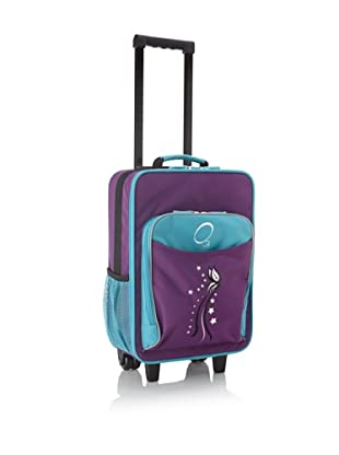 O3 Kids Rolling Luggage with Integrated Snack Cooler (Butterfly)