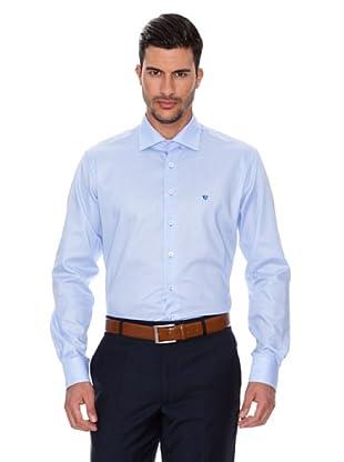 Caramelo Camisa Clásica (Azul)