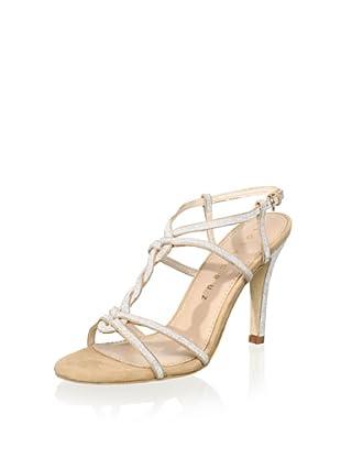 Lola Cruz Women's High Heel Sandal (Silver/Nude)
