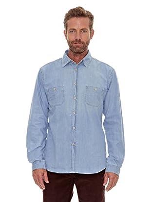 Cortefiel Camisa Manga Corta (Azul)