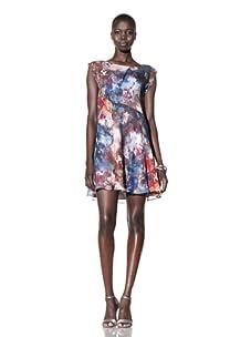 Suzi Chin Women's Floral Print Dress (Desert/Multi)