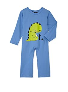 miniMONSTER Baby Boy's Poop Happens Coverall (Blue)