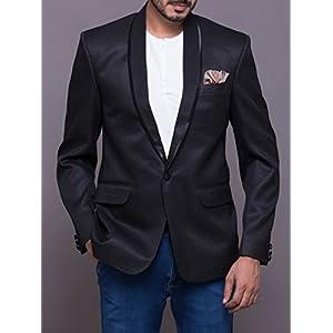 Azio Design Shawl Collar Men's Blazer - Black