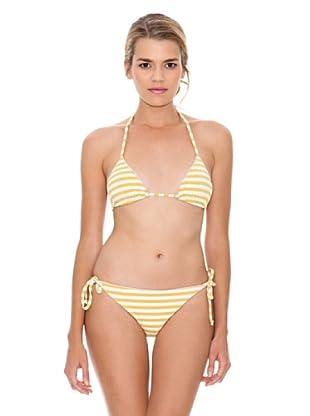 Monoplaza Bikini Rayas (Amarillo)