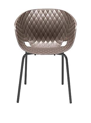 Metalmobil Sessel 2er Set Unika-594 kaffee/schwarz