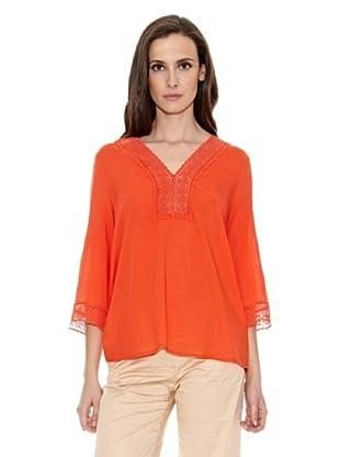 Cortefiel Camiseta Kaftan (Rojo)