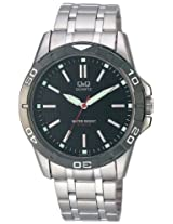 Q&Q Standard Analog Black Dial Men's Watch Q576N402Y