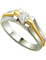 0.10ct Diamond Solitaire Two Tone 18kt Gold Ring