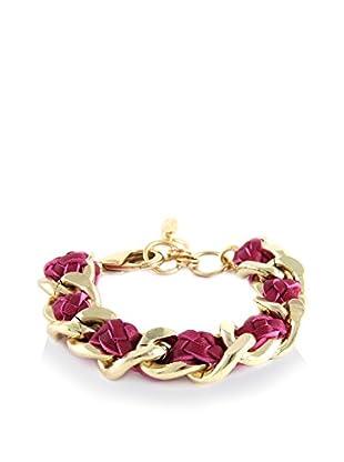 Ettika Plum & 18K Gold-Plated Classic with A Twist Chain Bracelet