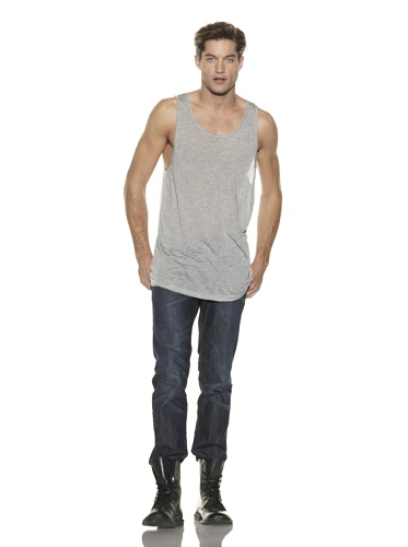 Square One Collection Men's Tower Tank Top (Heather Grey)