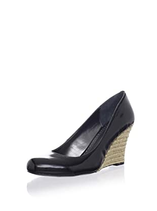Adrienne Vittadini Women's Leah Wedge Pump (Black Patent)