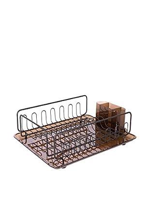 InterDesign Forma Lupe Dish Drainer 2, Amber/Bronze