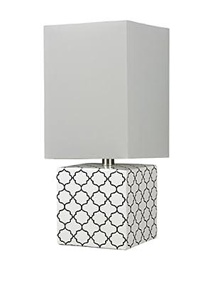 Artisitic Lighting Table Lamp, Gloss White / Black