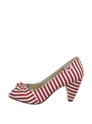 Rocket Dog Zapatos Peep Toe Marisa (Rojo)