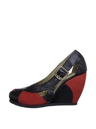 Fly London Zapatos Bicolor (Rojo / Negro)