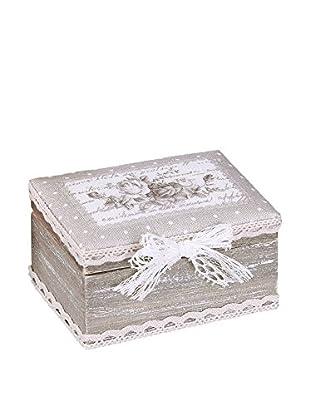 Romantic Style Set Caja de Almacenamiento 2 Uds. Roses Gris