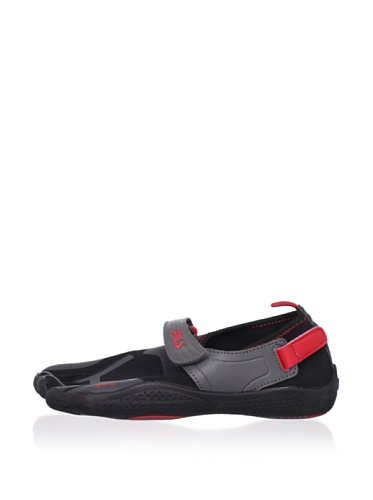 Fila Kid's Skele-Toes EZ Slide Shoe (Little Kid/Big Kid) (Black/Castlerock/Chinese Red)