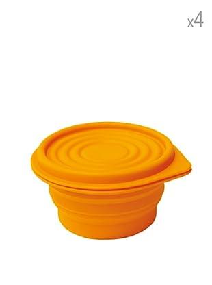 Pavoni Set 4 Envases Ahora Espacio 14 cm Naranja