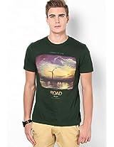 Bottle Green Crew Neck T Shirt