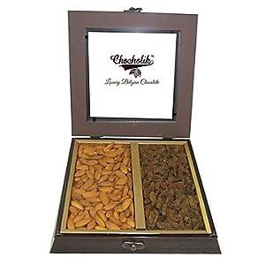 Chocholik Premium Gifts - Fancy Gift Box Of Almonds & Raisins