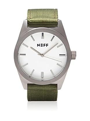 Neff Uhr mit Japanischem Uhrwerk Nightly silber/oliv 40  mm