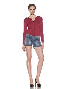 RED Valentino Women's Denim Shorts (Blue)