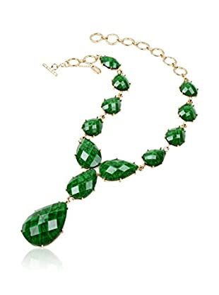 Amrita Singh Collar Camella Teardrop evergreen