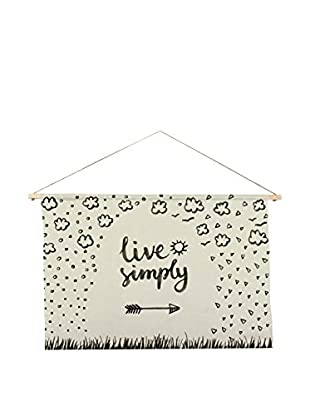 Little Nice Things Wandteppich Live Simply 90X60