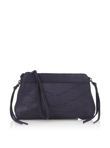 Linea Pelle Women's Dylan Jules Embossed Stitch Clutch (Midnight)